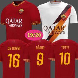 Roma maillot de football en Ligne-Thailand DZEKO PEROTTI PASTORE ZANIOLO maillot de foot rome 2019 TOTTI maillot 19 20 maillot de foot DE ROSSI 2020 comme maillot de foot roma