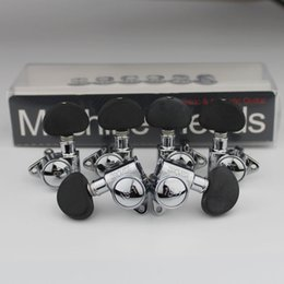 Máquinas de ajuste preto on-line-Original Black and White Grover Guitar Machine Heads Tuners Guitar Tuning Pegs 3R+3L / Set