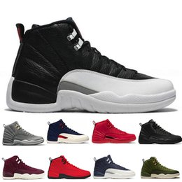 ee6f3319ef0b Hot 12 12s Gym red Michigan WNTR mens Basketball shoes Flu Game UNC Wings  The Master Taxi men sports sneakers designer trainers US 5.5-13