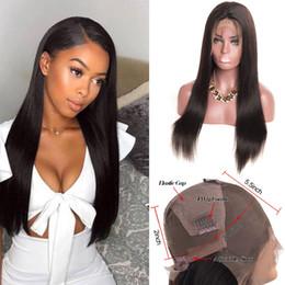 Cheveux vierges en Ligne-Plein de lacet perruques de cheveux humains Straight raw vierge de cheveux indiens Plein de lacet perruque sans colle cuticule aligné vierge perruque de cheveux pour les femmes noires brésilienne