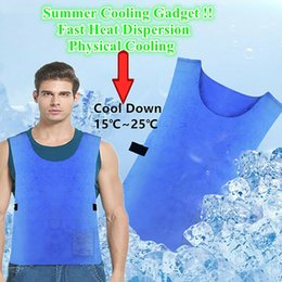 2019 wasserdichtes netzgewebe Taktische Outdoor Angeln Vest Cool Summer Anti-Heat Cooler Mesh-PVA Wasserdicht Hochtemperaturgewebe Eis Mesh-Schutzweste günstig wasserdichtes netzgewebe
