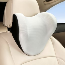 2019 travesseiros para animais Encostos de Cabeça Car Suprimentos Ice Silk respirável Neck espaço de memória Cotton Lombar Encosto de cabeça (várias cores para escolher)