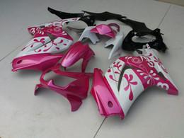 2020 carenagens de ninja rosa Conjunto de carenagem de injeção para KAWASAKI Ninja ZX250R ZX 250R 2008 2012 Carroçaria EX250 08 09 10 12 Carroceria de carcaça cor-de-rosa KH101 desconto carenagens de ninja rosa