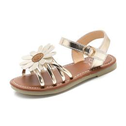 Детская обувь для девочек гладиатор онлайн-Скидка Дешевые детские летние сандалии Обувь для девочек Дети Sun Gladiator Shoes Pu Кожа Цветок Платье Принцессы