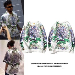 2019 sudaderas chinas de moda Harajuku Korean Streetwear Mens Peacock Hoodies Sudaderas Hip Hop O-Neck Diseñador de moda Sudadera con capucha Hombres INS Peacock Sudadera con capucha de estilo chino Hombres rebajas sudaderas chinas de moda
