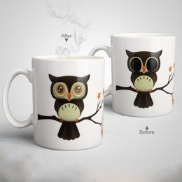 Magic Morning Cup Color Changing Coffee Mug Heat Sensitive Tea Cold Hot Change