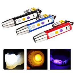Lanterna de jade on-line-BRELONG LED três fonte de luz em jade brilho identificação lanterna jade roxo / amarelo / branco 1 pc
