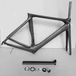 2019 bicicleta de fibra de carbono preta fosca 2019 EARRELL Novo quadro de bicicleta de estrada de carbono estrada ciclismo bicicleta frameset marca moldura quadro afastamento garfo selim
