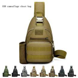 5b4c1cf1f4 Hommes Camouflage Poitrine Sacs De Mode Multifonction Messenger Sacs Hommes  Bandoulière Militaire Voyage Simple Sling Bandoulière Sangle Pack MMA1692