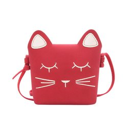 cute korean travel bag Promo Codes - Korean Fashion Style Children Travel Bag Cute Cat Design Small Mini Bags For Girl Kids Girls Outdoor Traveling Bag