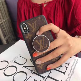 Оптовая продажа роскошных дизайнерских чехлов для телефонов из искусственной кожи с кронштейном для iPhone 6/7/8 плюс XS MAX XR чехол для Samsung Galaxy S7 край чехол бесплатно DHL от