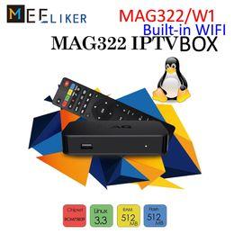 Nueva estructura MAG322 / W1 en wifi Linux 3.3 OS MAG 322 / W1 H.265 HD Transmisión de medios inteligentes en HD IPTV Box MAG322W1 MAG254 desde fabricantes