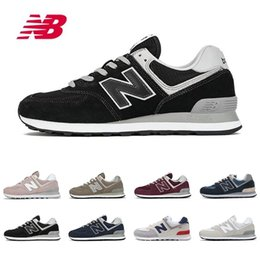 Argentina 2019 New Balance Nuevos zapatos para correr 574 para hombres, mujeres, de alta calidad, rojo, gris, moda para hombre, entrenadores corredor para caminar, zapatillas deportivas cheap balance shoes Suministro