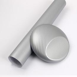 Le film argenté d'enveloppe de vinyle de fibre de carbone 3D d'argent couvre des feuilles de film avec la qualité supérieure 1.52x30m / rouleau 4.98x98ft ? partir de fabricateur