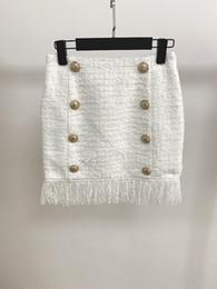tiere sexy heiße frauen Rabatt 826 2019 Herbst Marke Gleichen Stil Kleid Kurzen Rock Knopf Über Dem Knie Weiß Mode Luxus Frauen Kleidung oulaidi