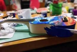 21 pouces ukulélé bricolage ensemble ukulélé à la main peut être peint activité adulte parent-enfant jouets activité assemblée ? partir de fabricateur