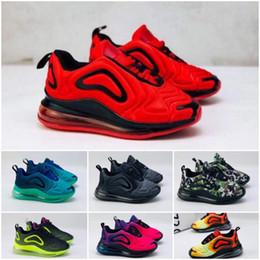 Zapatos casuales niños rojos online-Nike Air Max 720 72c caliente niños zapatos casuales azules niñas zapatos deportivos al aire libre de color rosa niños zapatos casuales rojos 28-35 zapatillas de deporte para niños