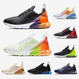Zapatos de tigre para hombres online-nike air max 270 nuevos hombres para mujer zapatos para correr triple blanco negro Hyper Grape azul marino té Berry Tiger mujeres entrenadores zapatillas deportivas zapatos tamaño