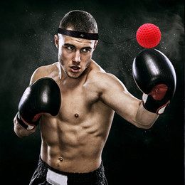 ручное оборудование тренировки Скидка Бокс Reflex Speed Punch Ball Силиконовые Тренировки Координация рук и глаз с оголовьем Улучшение реакции Муай Тай Тренажеры ZZA765