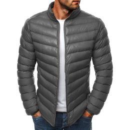 Großhandel Vogue Jacken Parka Männer Wintermantel Warm Outwear Slim Fit Herren Winter Jacken Und Mäntel Casual Windbreaker Streifen Mantel Für Männer