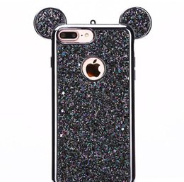 apple i6s telefone Desconto Orelhas dos ratos 3d soft case capa case para apple iphone 6 6 s plus luxo glitter bling casos de telefone celular i6s plus casos