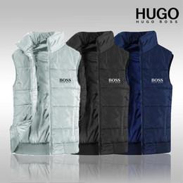 Polo pour hommes en Ligne-Marque des hommes 2019 nouvelle livraison gratuite, nouvelle veste pour hommes en coton PoLo sans manches top XL veste de gilet pour hommes matelassé, XL-4XL 1275 #