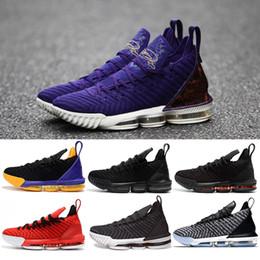 buy online b8f07 17d4c Designer 16s Men Basketballschuhe 16 King Court Purple Oreo FRISCHE BRED  Triple schwarzer Lakers Herren Sneaker Sport Sneaker Schuhe Größe 7-12