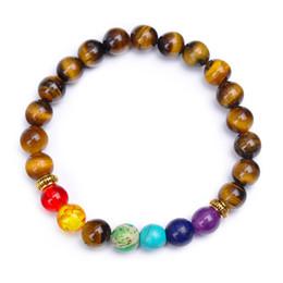 Canada L'Europe et les États-Unis vendent comme des petits pains chauds 8 mm bracelet œil de tigre perles pierres naturelles tissées à la main cheap cake beads Offre