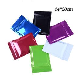 2019 bolsa de regalo de plástico 14 * 20 cm (5.51 * 7.87 pulgadas) varios colores paquete de almacenamiento de alimentos secos bolsas plástico mylar de aluminio y aluminio en el interior del paquete de regalo bolsas bolsa de smaple bolsa de regalo de plástico baratos
