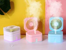 Date ventilateur humidificateur réglable volume de brouillard avec lampe d'ambiance mini bureau à domicile portable purification de l'air humidificateur avec boîte de détail ? partir de fabricateur