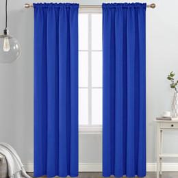 Varas de cortina de bolso on-line-Moda Rod bolso Blackout Curtain Panel Janela Drape (várias cores) 42 polegadas de largura isolante quarto escurecimento cortinas blackout para o quarto
