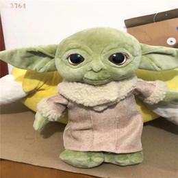 venta al por mayor osos de peluche llaveros Rebajas 2020 Nueva llegada 30cm Maestro Yoda bebé juguetes de peluche de Childs precioso mandaloriana película Yoda bebé suave relleno muñecas de los juguetes para el cabrito nuevo regalo E1202