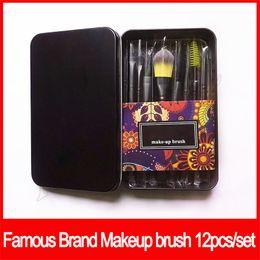 Labios de sombra de ojos online-12 unids Pinceles de Maquillaje Set Professional Fan Powder Foundation maquillaje Blush Blending Sombra de Ojos Labio Cosmético Maquillaje de Ojos Cepillos Kit de Herramientas