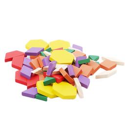 Canada 60 pcs Coloré En Bois Tangram Casse-tête Puzzle Jouets Tetris Jeu Préscolaire Magination Intellectuelle Éducatif Enfant Jouet Cadeau cheap kids preschool games Offre