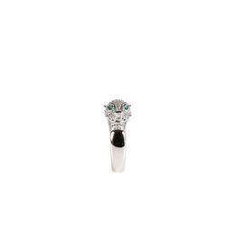 2019 irmã Leopardo anel grande marca mesmo modelo S925 prata jóias finas anel aberto presente para a menina senhora irmã desconto irmã