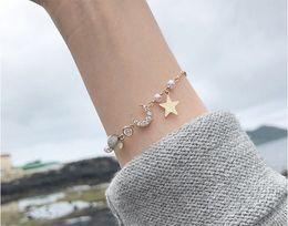 2019 mondcharme armband Halbmond Armband Korea einfache Perle Damen Flash Stone Armband günstig mondcharme armband