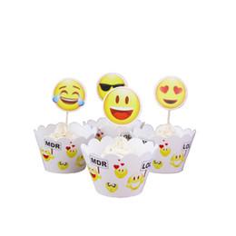 schwarze cupcake cups Rabatt Emoji Cupcake Topper Backpapier Tasse Schöne Karte Insertion Beliebte Kreative Umfang Heißer Verkauf Neue Muster 3 8ss J1