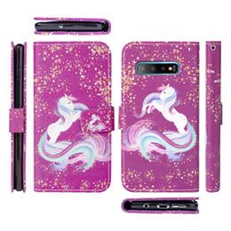 Rosa lg teléfonos online-Para LG tributo imperio Funda con monedero para Samsung Galaxy S10 S10E S10 Plus Impreso Lindo Pink Pig PU soporte de cuero cubierta del tirón