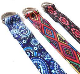 2018 Nuevo patrón de color Banda de yoga elástica Durable Algodón Correa de ejercicio D-ring ajustable hebilla da flexibilidad para yoga desde fabricantes