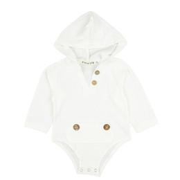 Trajes de chaleco para niños online-Mamelucos del bebé Traje de escalada para niños Mono con capucha de manga larga Boy Girl Milk White Vest Button 32