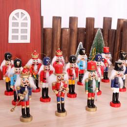 2019 kinder weihnachten ornamente Nussknacker Puppet Soldat Holzhandwerk Christmas Desktop Ornamente Weihnachtsschmuck Geburtstagsgeschenke für Kinder Girl Place Arts AN2678 günstig kinder weihnachten ornamente