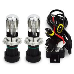 fernlichtscheinwerfer Rabatt Glühlampen 55W H4 hallo niedriger Strahl 12V Wechselstrom VERSTECKTE Kfz-Scheinwerfer-Ersatzbirne H4-3 BiXenon Hi / Lo Strahllampe 4300k / 6000 / 8000K