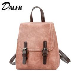 79f51cbb4f23d 2019 schöne rucksäcke für frauen DALFR PU Leder Rucksack Damenmode Haspe  Mini Rucksäcke Hochwertigen College Style