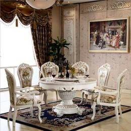Mesa de jantar redonda moderna on-line-Estilo moderno italiano mesa de jantar, 100% de madeira maciça Itália estilo luxo rodada mesa de jantar o1110