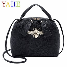 2020 крест через плечо сумка  YAHE  Classic Bee Cross Over Shoulder Bag Women Soft Leather Crossbody Messenger Pack Children Girls Small Phone Handbags дешево крест через плечо сумка