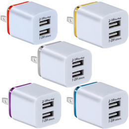 Samsung 8 adaptador para o carregador on-line-Portas USB duplas 2.1A + 1A UE AC AC Home Travel Wall Carregador Power Plug para Samsung Galaxy Nota 8 10 S8 S10 HTC Phone Android