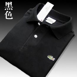 Polo xs on-line-Lacoste Crocodilo de alta qualidade Pólo Dos Homens de Algodão Sólido Shorts Polo Verão Casual polo homme Camisetas L01 Mens polos Camisas poloshirt