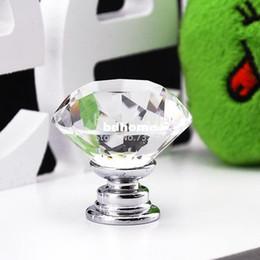 puxador de armário de cristal Desconto 10 Pçs / lote 30mm Cristal De Vidro De Armário de Cozinha E Maçanetas de Armário de Armário Knob Puxa Hardware TK0636