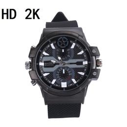 Reloj impermeable hd dvr online-16GB 32GB HD 2K Reloj Cámara 1296P 1080P Reloj impermeable Mini DV DVR Detección de movimiento Grabador de video Seguridad Vigilancia mini cámara