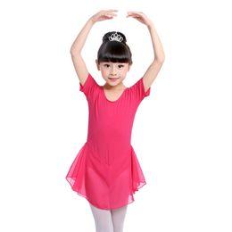 гимнастические юбки Скидка Hot Sale Girls Ballet Dress Gymnastics Leotard for Girls Ballet Clothing Costumes Kids Dance Wear with Skirts Wholesale
